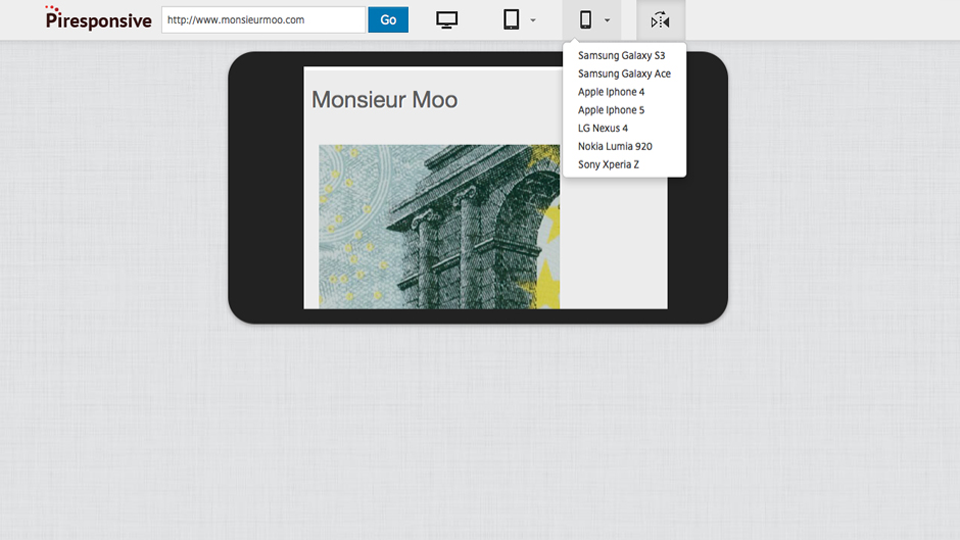 Responsive design outil test mobile